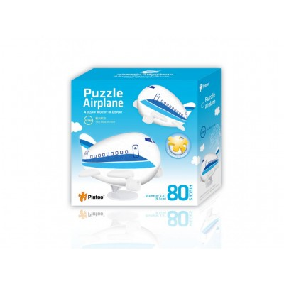 Pintoo-E5186 Puzzle 3D Avion - Sky Blue Airline