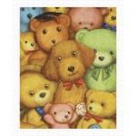 Pintoo-H1124 Puzzle en Plastique - Smart - Poodle and Teddy Bears