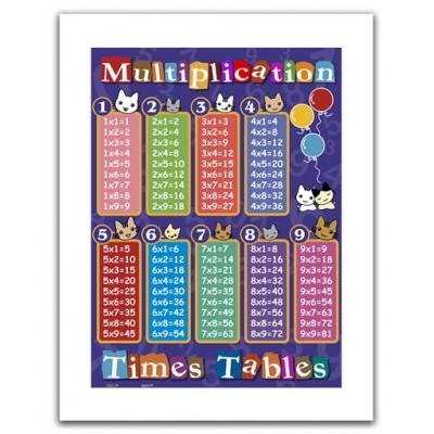 Pintoo-H1375 Puzzle en Plastique - Table de multiplication