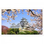 Pintoo-H1436 Puzzle en Plastique - Himeji-jo Castle in Spring Cherry Blossoms