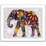 Pintoo-H1479 Puzzle en Plastique - L'éléphant enthousiaste