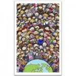 Pintoo-H1487 Puzzle en Plastique - Une seule Terre, Une seule Famille