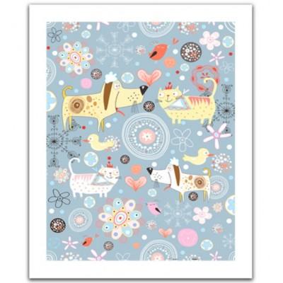 Pintoo-H1526 Puzzle en Plastique - Cats & Dogs