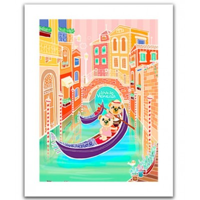 Pintoo-H1537 Puzzle en Plastique - Romantic Vacations - Venice