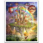 Pintoo-H1561 Puzzle en Plastique - Cirot Marchetti : Tarot Town