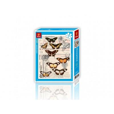 Pintoo-H1584 Puzzle en Plastique - Papillons