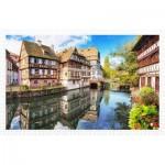 Pintoo-H1597 Puzzle en Plastique - Strasbourg, Petite France