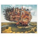 Pintoo-H1637 Puzzle en Plastique - Jacek Yerka - City is Landing