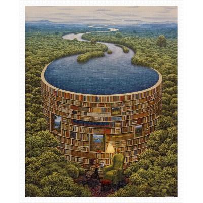 Pintoo-H1640 Puzzle en Plastique - Jacek Yerka - Bibliodame