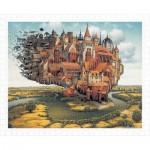 Pintoo-H1645 Puzzle en Plastique - Jacek Yerka - City is Landing