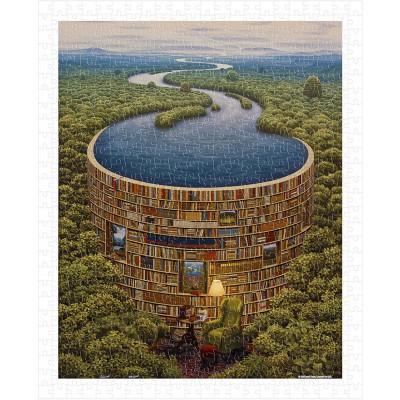 Pintoo-H1647 Puzzle en Plastique - Jacek Yerka - Bibliodame