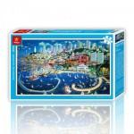 Pintoo-H1661 Puzzle en Plastique - San Francisco