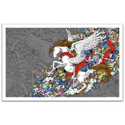 Pintoo-H1673 Puzzle en Plastique - Pegasus
