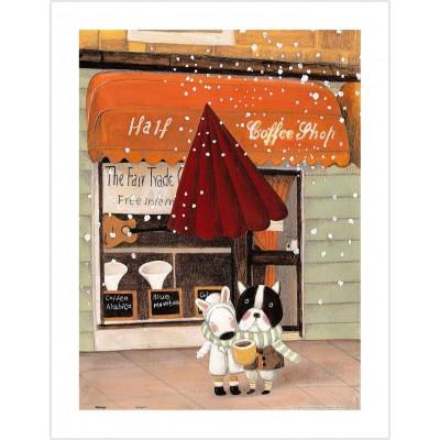 Pintoo-H1708 Puzzle en Plastique - Nan Jun - Half - Coffee Shop