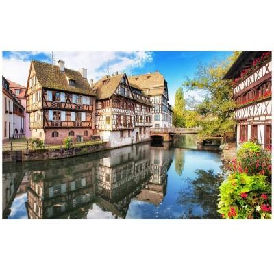 Pintoo-H1755 Puzzle en Plastique - Strasbourg, Petite France