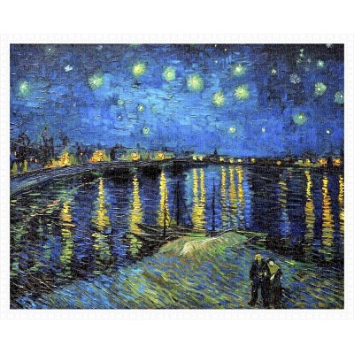 Pintoo-H1761 Puzzle en Plastique - Vincent Van Gogh - Starry Night Over The Rhone, 1888