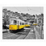 Pintoo-H1767 Puzzle en Plastique - Yellow Trams in Lisbon