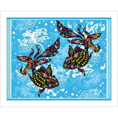 Pintoo-H1771 Puzzle en Plastique - The Brilliant Goldfish