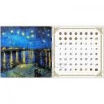 Pintoo-H1778 Calendrier Showpiece - Van Gogh - Nuit Etoilée sur le Rhône
