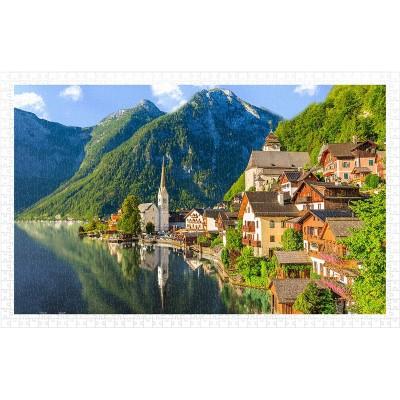 Pintoo-H1785 Puzzle en Plastique - Lakeside Village of Hallstatt, Austria