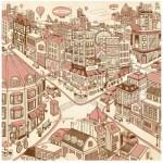 Pintoo-H1788 Puzzle en Plastique - Happiness Town