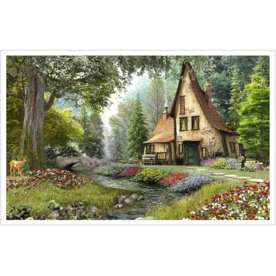 Pintoo-H1790 Puzzle en Plastique - Dominic Davison - Toadstool Cottage