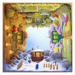 Pintoo-H1918 Puzzle en Plastique - Jacek Yerka - Four Seasons