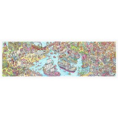 Pintoo-H1954 Puzzle en Plastique - Tom Parker - Dino City and Bay