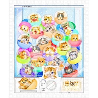 Pintoo-H1993 Puzzle en Plastique - Kayomi - Kittens in Capsule Machine