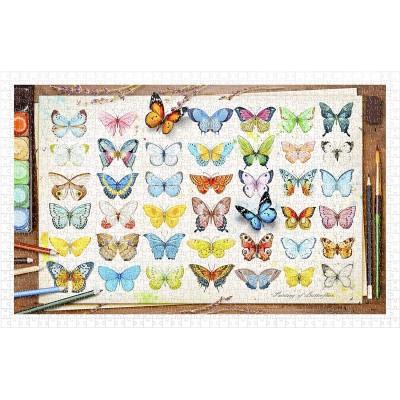 Pintoo-H2027 Puzzle en Plastique - Beautiful Butterflies