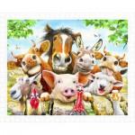 Pintoo-H2038 Puzzle en Plastique - Howard Robinson - Farm selfie