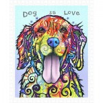 Pintoo-H2039 Puzzle en Plastique - Dean Russo - Dog Is Love