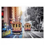 Pintoo-H2044 Puzzle en Plastique - Cable Cars on California Street, San Francisco
