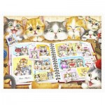 Pintoo-H2051 Puzzle en Plastique - Kayomi - Kitten Memory Album