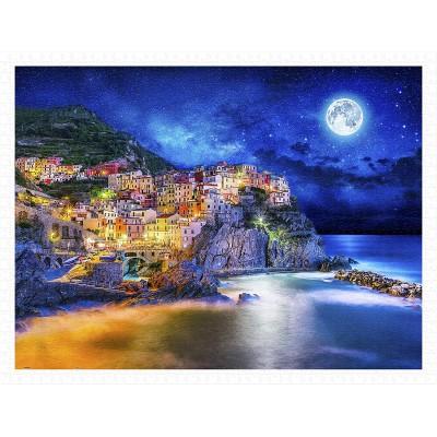 Pintoo-H2056 Puzzle en Plastique - Starry Night of Cinque Terre, Italy