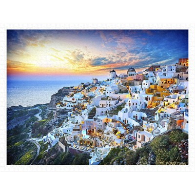Pintoo-H2073 Puzzle en Plastique - Beautiful Sunset of Greece