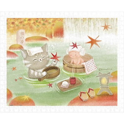 Pintoo-H2074 Puzzle en Plastique - Mumu in the Hot Spring