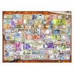 Pintoo-H2086 Puzzle en Plastique - Garry Walton - Currency of the World