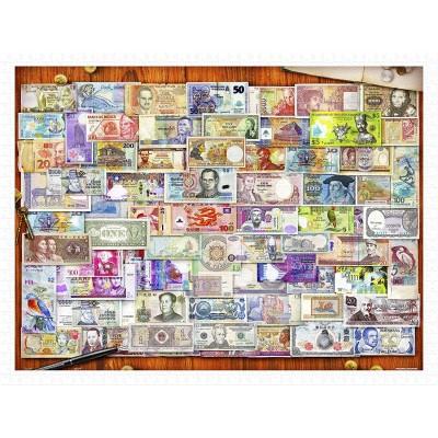 Pintoo-H2086 Puzzle en Plastique - Garry Walton - Currency of the World