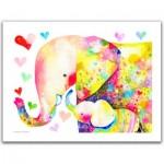 Pintoo-H2106 Puzzle en Plastique - Reina Sato - Elephant Family