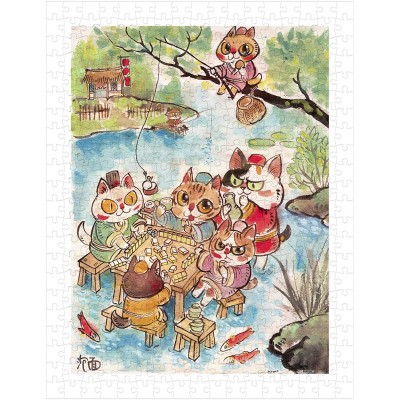 Pintoo-H2112 Puzzle en Plastique - Pao Mian - The Leisure Life of the Cats