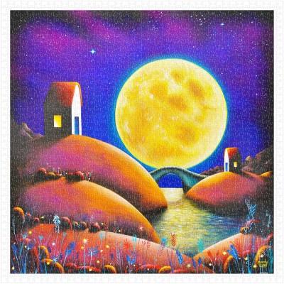 Pintoo-H2132 Puzzle en Plastique - Darren Mundy - Golden Moon River