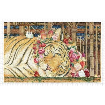 Pintoo-H2146 Puzzle en Plastique - Cotton Lion - Goodnight Tiger