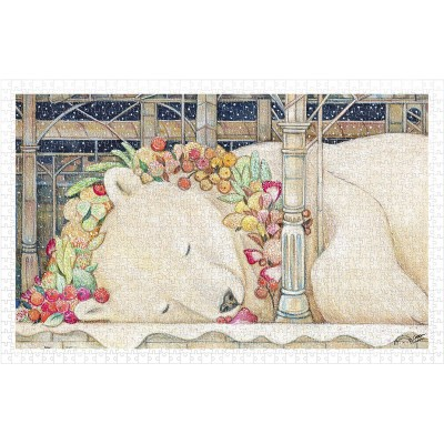 Pintoo-H2150 Puzzle en Plastique - Cotton Lion - Goodnight Polar Bear