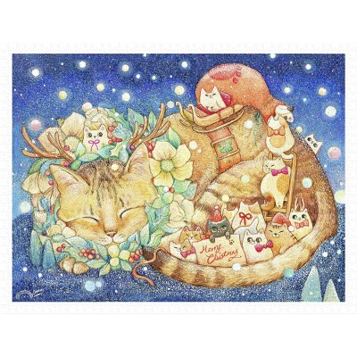 Pintoo-H2250 Cotton Lion - Christmas Night & Cats