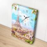 Pintoo-HK1003 Toile avec Horloge - Printemps à Paris