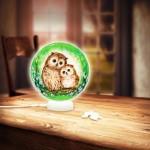 Pintoo-J1012 Puzzle 3D - Sphere Light - Hiboux et Chatons