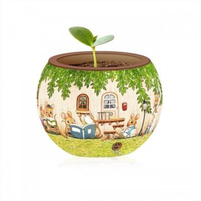 Pintoo-K1023 Puzzle 3D - Flower Pot - Happy Reading