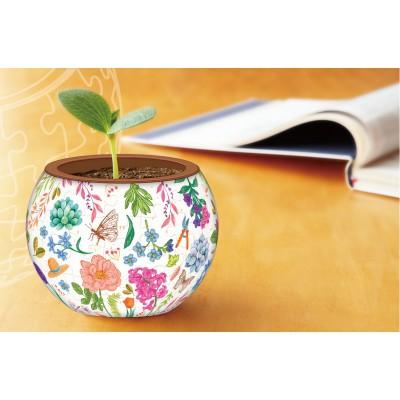 Pintoo-K1054 Puzzle 3D - Flowerpot - Little Garden