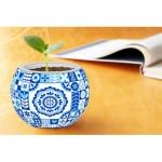 Pintoo-K1055 Puzzle 3D - Flowerpot - Danish Folklore Style